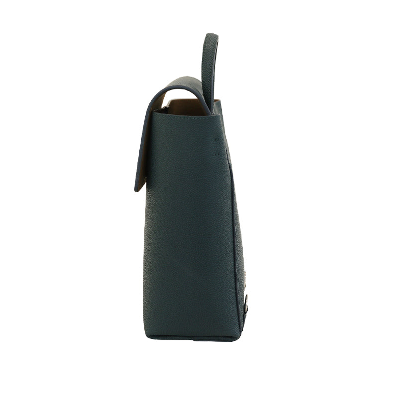 PURE FLAP BACKPACK - PEACOCK GREEN