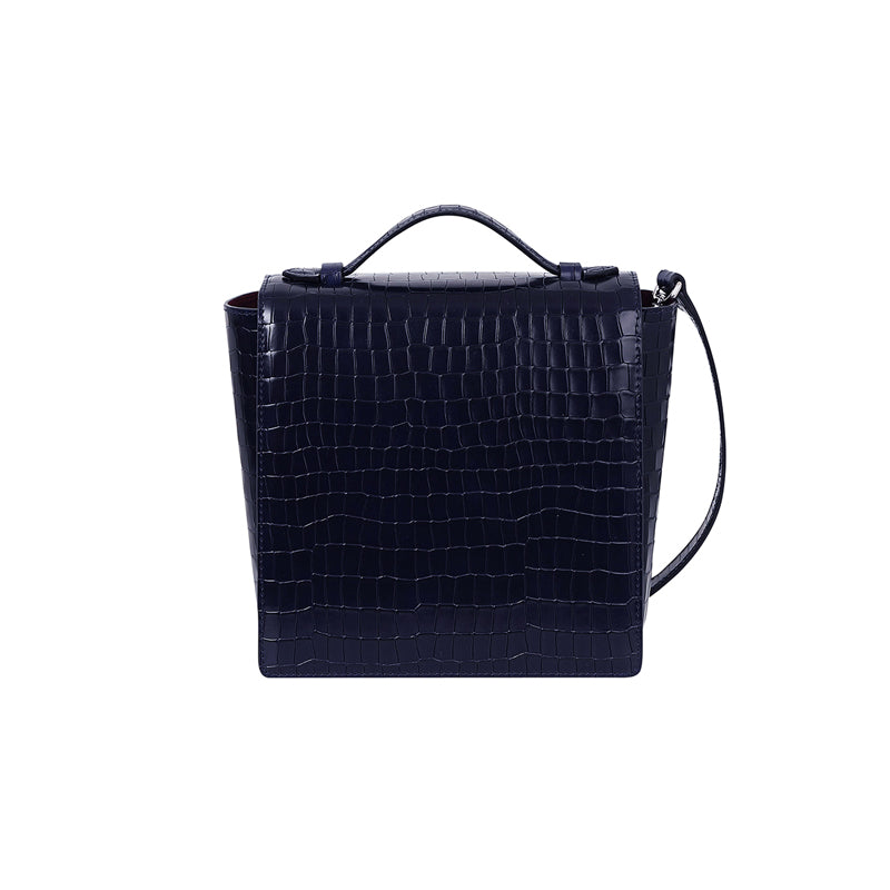 LADY SQUARE FLAP - DARK NAVY - milma.studio
