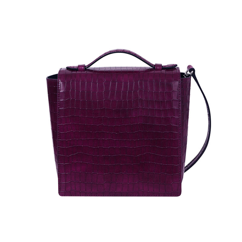 LADY SQUARE FLAP - PLUM - milma.studio