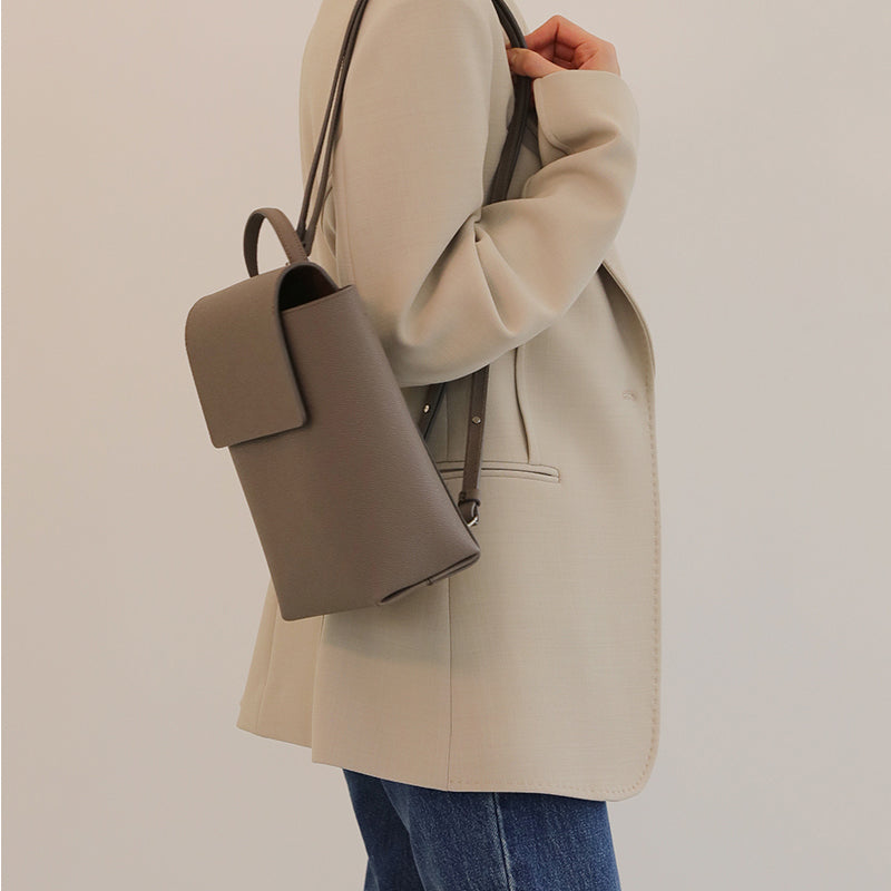 PURE FLAP BACKPACK - TAUPE