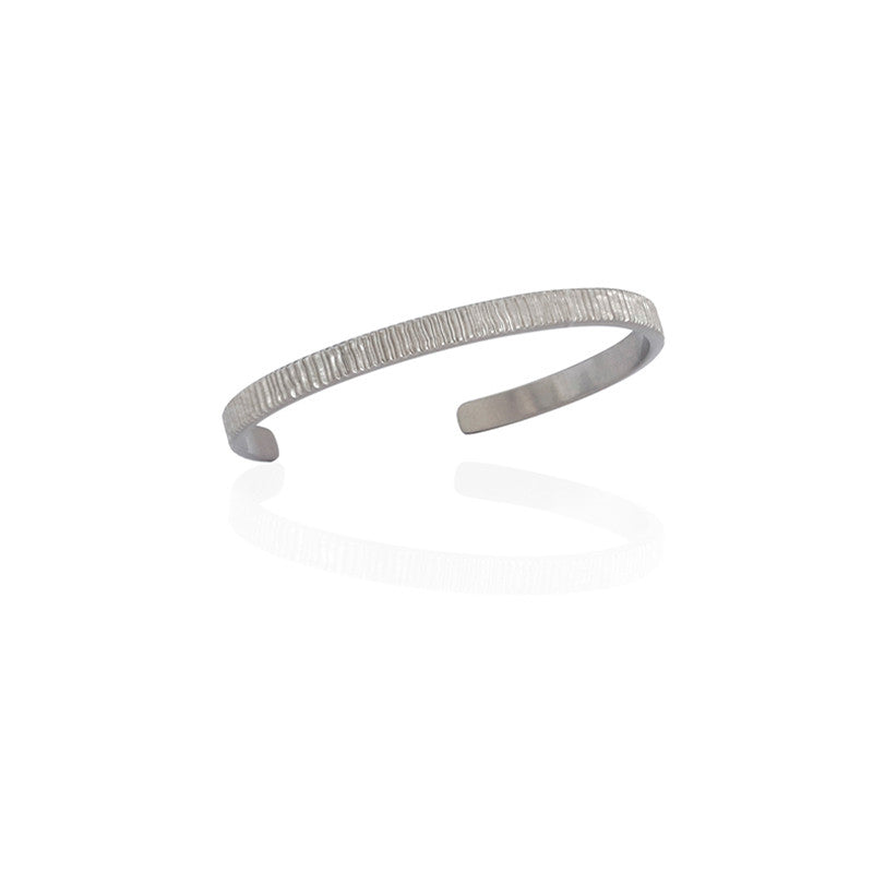 ETERNITY BANGLE - WHITE GOLD - milma.studio