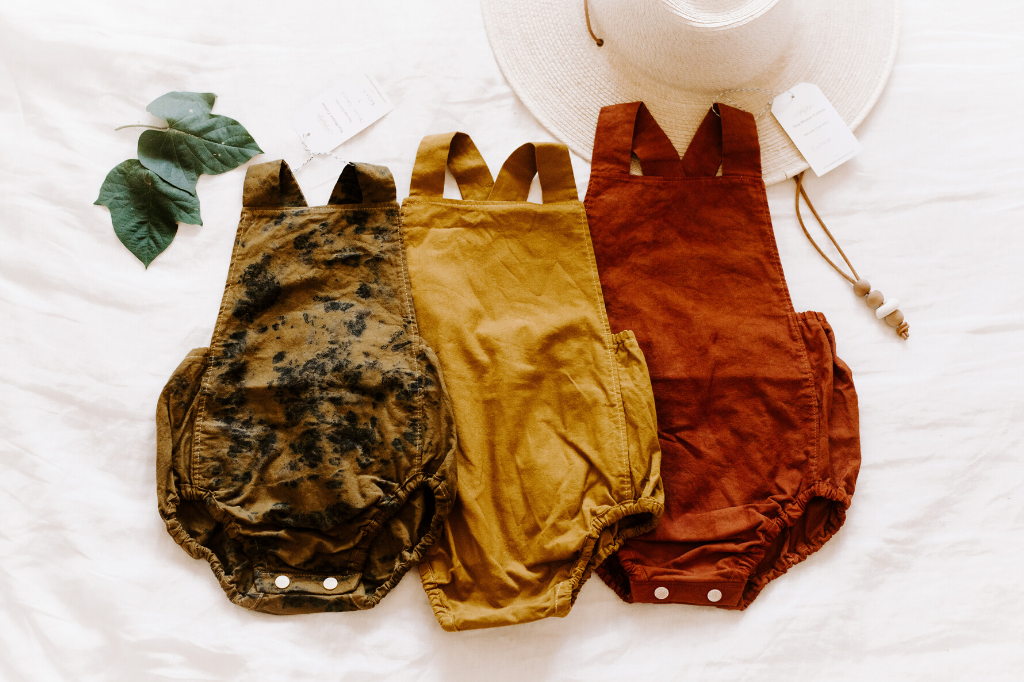 Plant Dyed Natural Baby Romper Clothes
