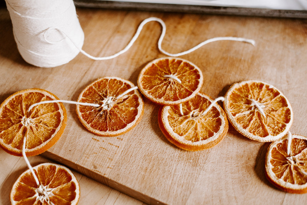 Dried Orange Garland Christmas Natural Decoration