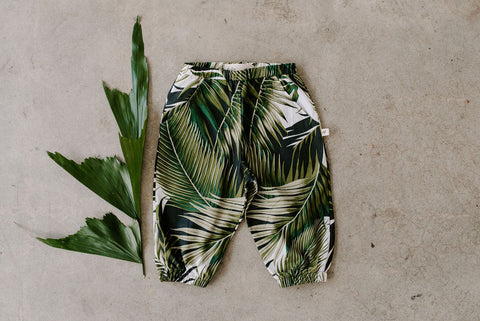 Toddler pants palm tropical Ashley Rose Clothing