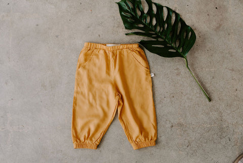 Baby kids yellow pants joggers Ashley Rose Clothing