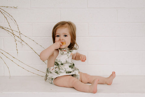 Ashley Rose Clothing #sunriseARchallenge baby rompers
