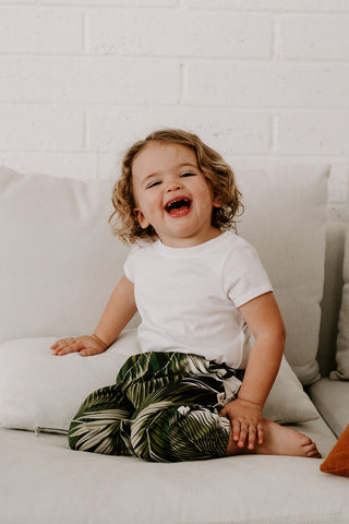 Kids pants palm tropical Ashley Rose Clothing