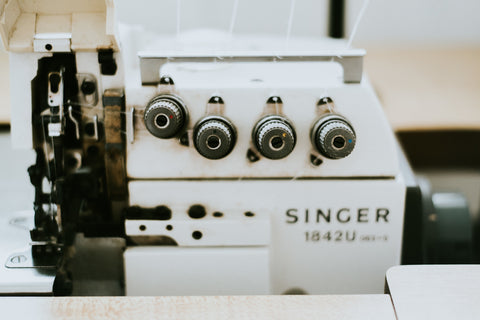 Industrial overlock serger sewing machine