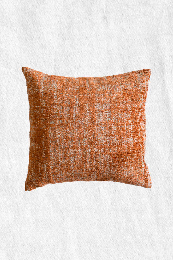 Velvety Spice Duck Feather Throw Pillow + Case