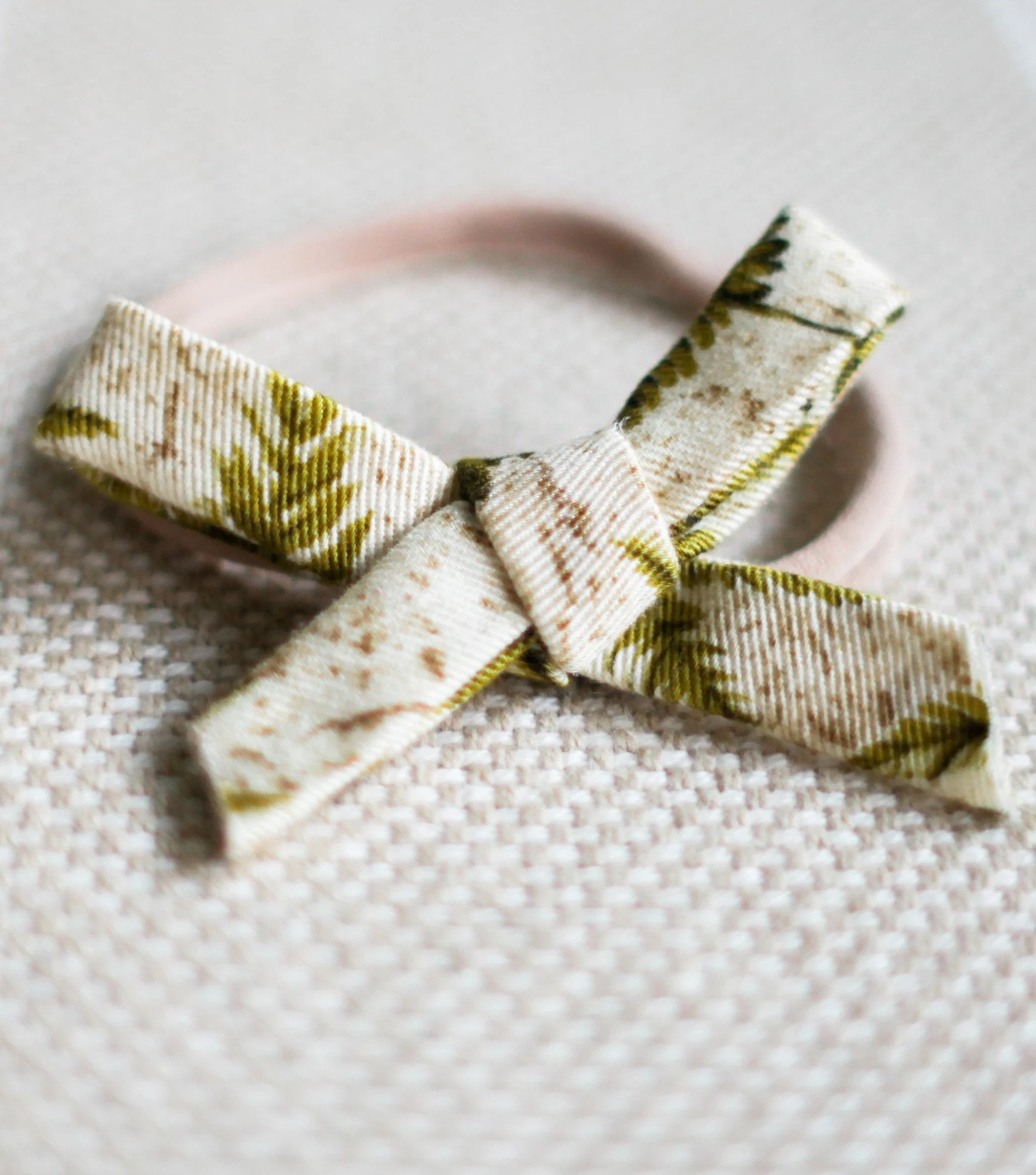 Fern Matching Nylon Headband Bow