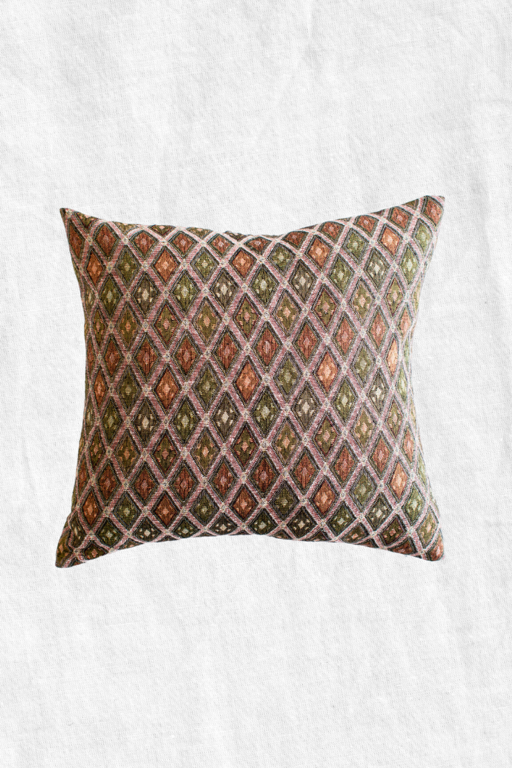 Moroccan Diamond Duck Feather Throw Pillow + Case