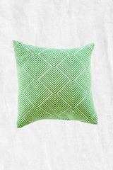 Parakeet Green Chevron Duck Feather Throw Pillow + Case