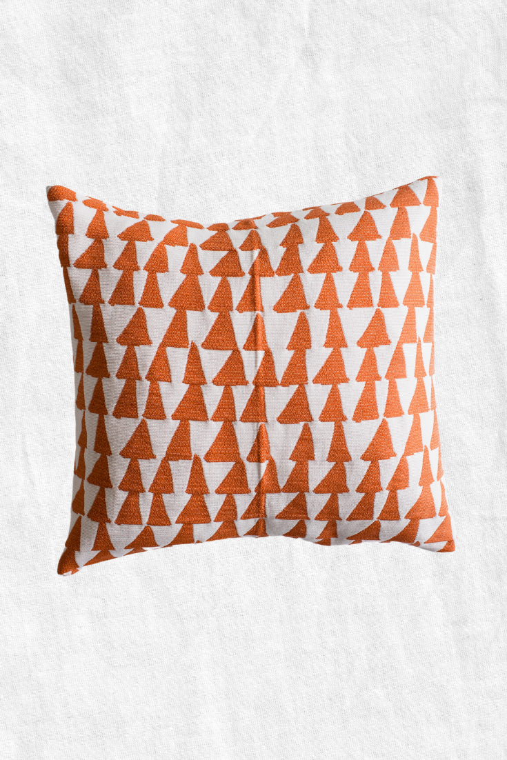 Retro Pyramid Duck Feather Throw Pillow + Case