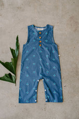 Finley Romper in Turtle Print-STAINED