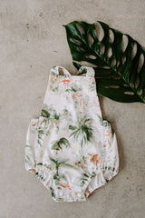 Frankie Romper in Flamingo