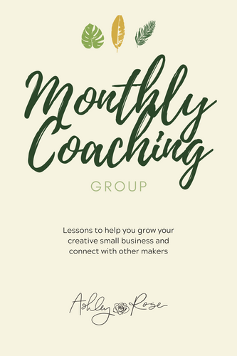Monthly Coaching Group Subscription
