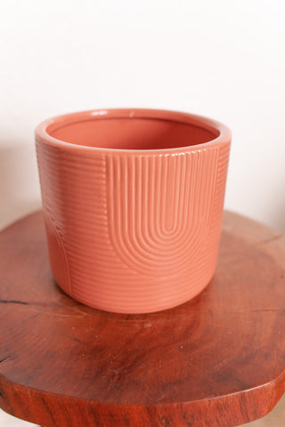 Ceramic Arch Planter in Dusty Rose