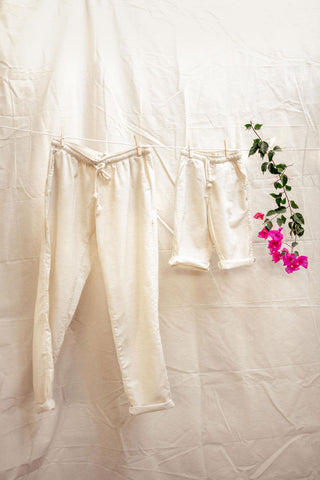 Hemp Adult Drawstring Pants in Flax