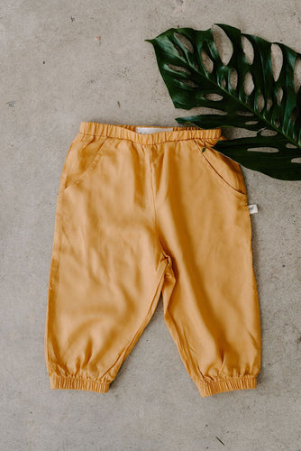 Matching mommy and me toddler baby mustard yellow joggers pants