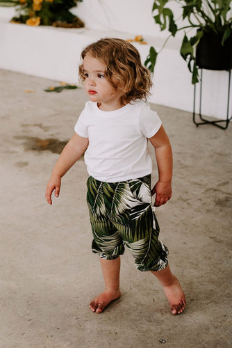 Matching mommy and me toddler baby palms joggers pants
