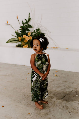 Lucy Romper in Palms