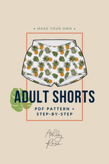 Adult Shorts Printable Pdf Pattern