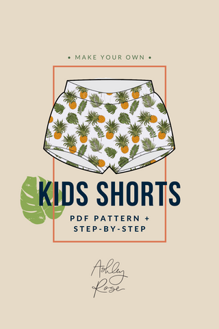 Kids Shorts Printable Pdf Pattern