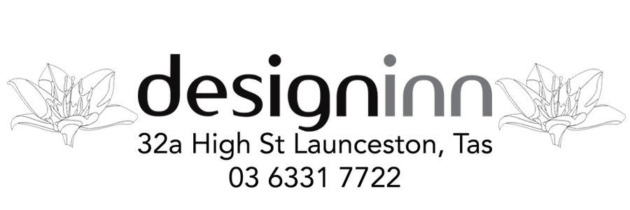 design inn logo with address 32a high street, Launceston Tasmania Phone 03 6331 7722