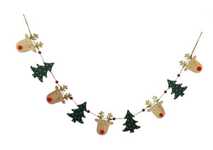 Reindeer & Tree Garland