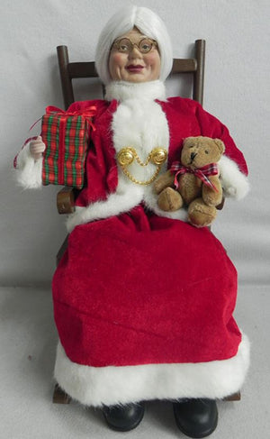 Mrs Claus sitting in Chair 40cm