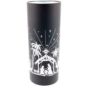 Dome Light-up Nativity 10x25cm