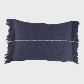 Mason Cotton Cushion Navy + Ivory 40x60cm