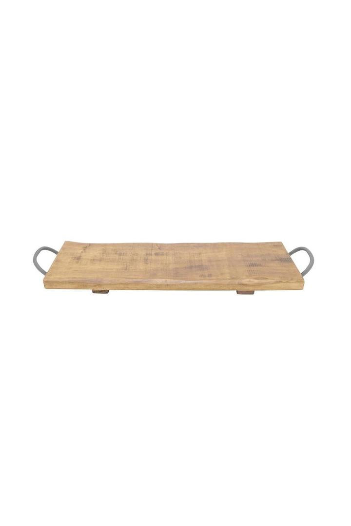 Eldridge Rubberwood Oblong Handle Tray S