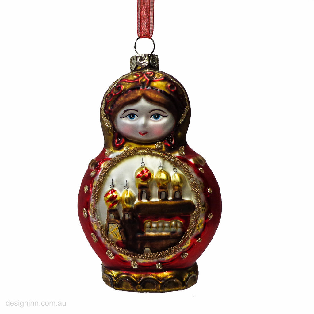 Babushka Hanging Glass 10cm