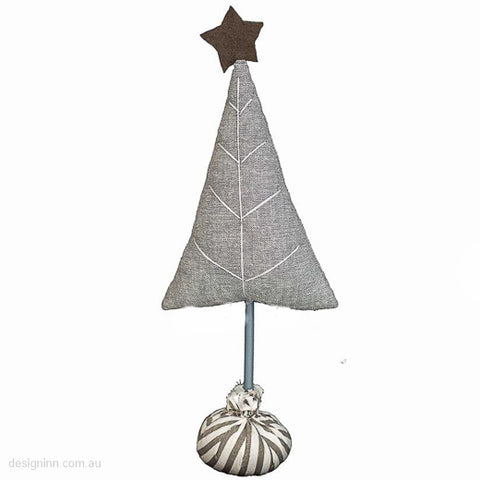Linen Tree on a Bag Stand Grey 35cm