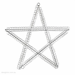 Star Card Holder Silver Wire 50cm