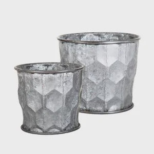 Honeycomb Zinc Pots Set/2