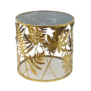 Belledale Metal Gold & Black Round Table