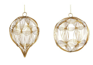 Wire Bauble Gold