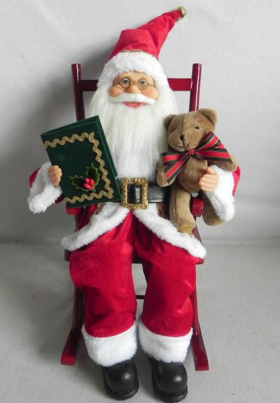 Santa Sitting in Chair 38cm