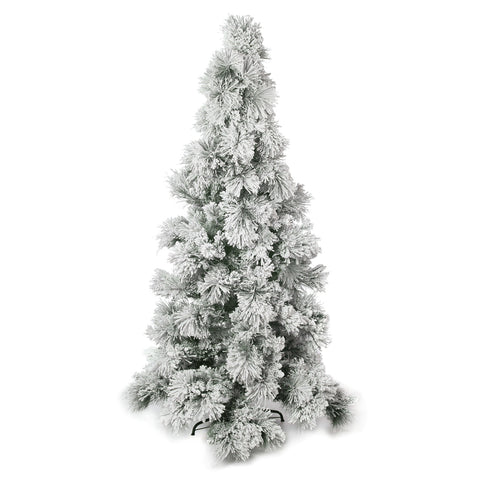 Flocked Pine Christmas Tree White 7.5ft