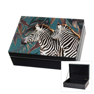 Jonestown Glass Jewel Box Zebra Lge