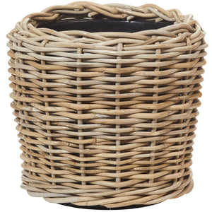 Natural Rattan Pot with Tub 30cm