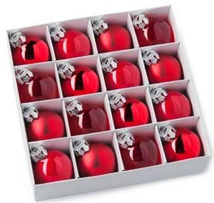 Glass Ball Red (16pcs)