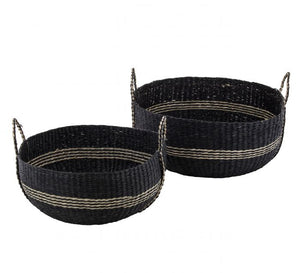 Sahalie Basket Black & Natural Small
