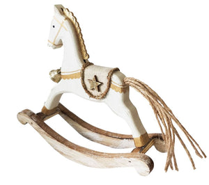 Rocking Horse Standing decoration gold