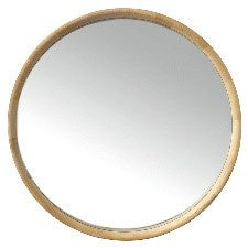 Inga Oak Round Mirror 90cm Natural