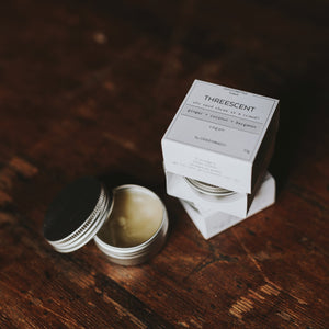 ginger+coconut+bergamot lip balm