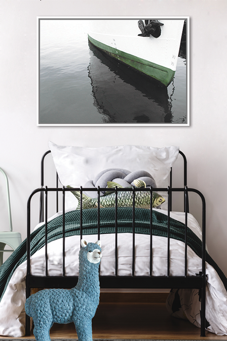 The Boat - Framed Canvas Print