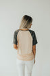 Camo Sleeve Top | Peach